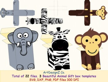 Free Live science is supported by its audience. Total Of 22 Files Three Beautiful Gift Box Templates Elephant Zebra Monkey SVG, PNG, EPS, DXF File
