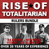 Rise of Totalitarianism Interwar Bundle Hitler Mussolini Stalin