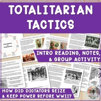 Totalitarian Leaders: Forms of Control and Propaganda Analysis/Group Activity