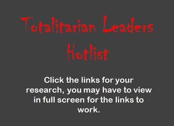 Totalitarian Leaders Hotlist : Dictators of WWII