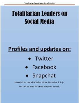 Totalitarian Leaders on Social Media