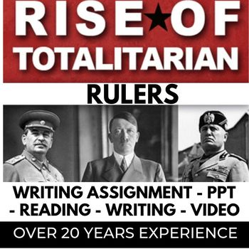 Totalitarian PPT with WRITING Assignment