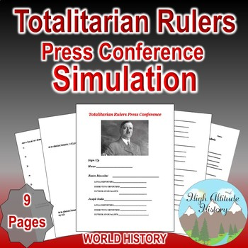 Totalitarian Rulers Press Conference Simulation (Between the Wars)