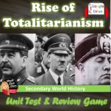 Totalitarianism (1930's) TEST (Stalin, Hitler, Mussolini) Common-Core Aligned