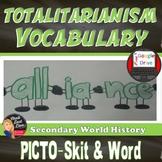 Totalitarianism Picto-Skit   Vocabulary Cooperative Activity    Print & Digital
