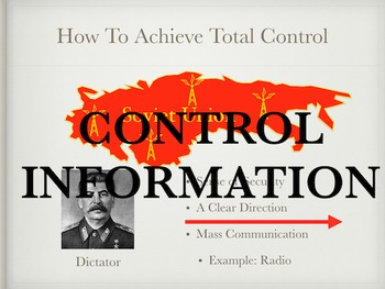 Totalitarianism Stalinist Russia Power Point and Keynote Presentations