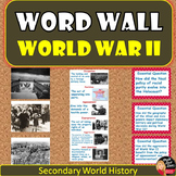 World War II WORD WALL Posters |World History | Grades 8-12 | Classroom Decor