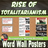 Totalitarianism WORD WALL Posters (World History) - Grades 8-12