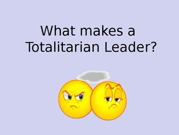 Totalitarianism and the rise of Stalin