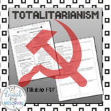 Totalitarianism non-fiction reading and worksheet types of