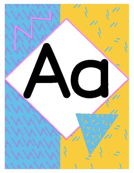 Totally 90's Saved By the Bell-themed Alphabet Posters & Learn to the MAX Banner
