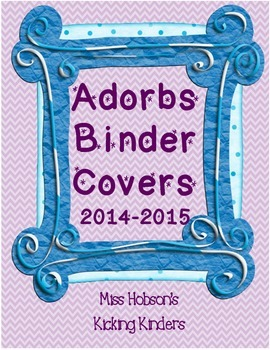 Totally ADORBS Binder Covers