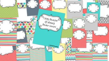 Totally Beachin {Editable} Binder Covers