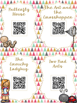 Totally Buggin' QR Codes: 20 Insect Stories for Daily Five Listen to Reading