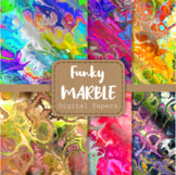 Totally Funky Digital Marble Papers