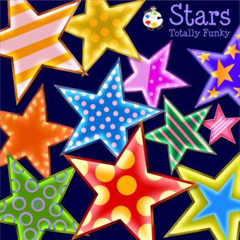 Totally Funky Eyecatching Star Shaped ClipArt