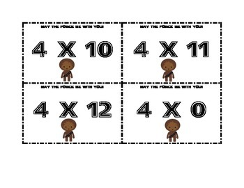 Totally Just for FUN! Star Wars Themed Multiplication & Division Flashcards
