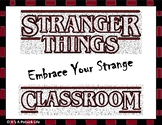 Stranger Things Totally Rad Classroom Expectations - Beginning of Year