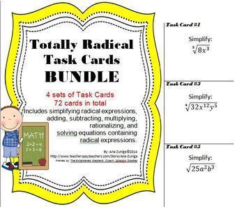 Totally Radical - Task Cards BUNDLE