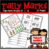 Tally Mark Matching Cards 1-10 and Recording Sheets
