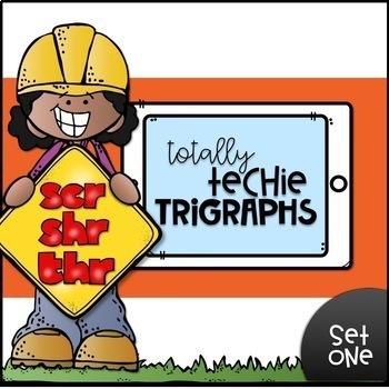 Totally Techie TRIGRAPHS--Digital Resource with Drag n'Drop & Typing {Google}
