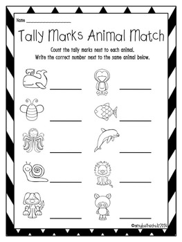 Totally Terrific Tally Marks Activity Packet