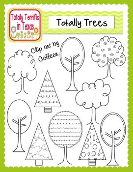 Totally Trees Clip Art