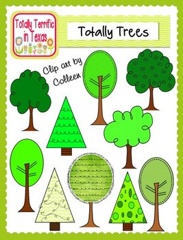 Totally Trees Color Clip Art