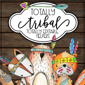 Totally Tribal EDITABLE Classroom Job Chart