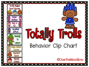 Totally Trolls Behavior Clip Chart