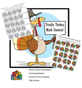 Totally Turkey Thanksgiving Math Centers & Activities!!