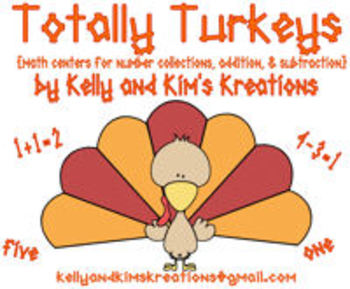Totally Turkeys! {math centers for number collections, add