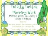 Totally Turtles Morning Work