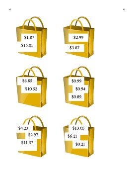 Totals & Change - Shopping Bag Match Up