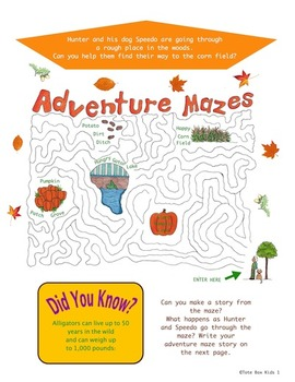 Tote Box Kids™ Fall Activity Book