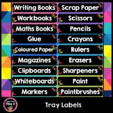 Superhero Tote Tray Labels
