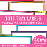 Tote Tray Labels