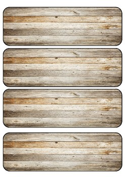 Tote Tray Labels Rustic Beach Theme