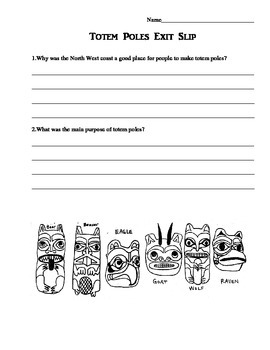 Totem Pole Story Telling Activity Sheets - Pacific Northwest