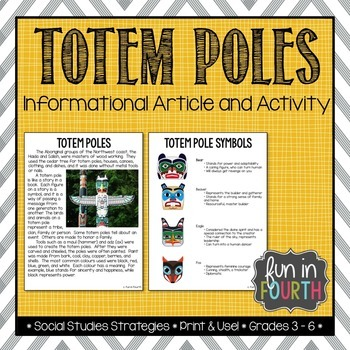 Totem Poles Worksheets Teaching Resources Teachers Pay