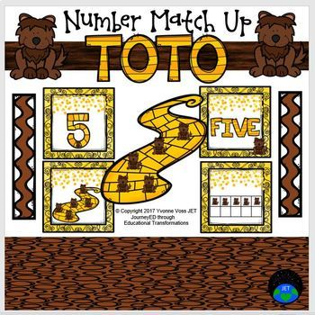 Toto Numbers Match Up Math Center