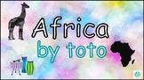 Toto's Africa classroom instrument arrangement