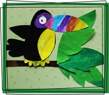 Toucan Craftivity Template