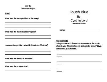 Touch Blue Literature Unit