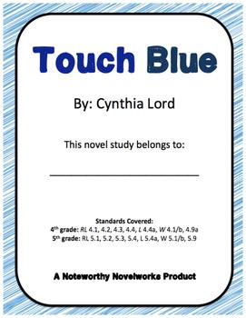 Touch Blue by Cynthia Lord Novel Study / Key