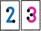 Touch Count Math Posters