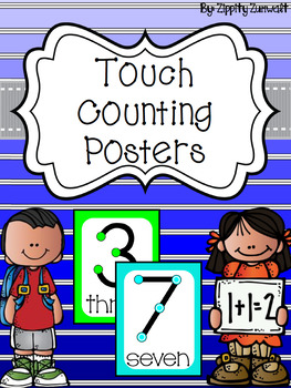 Touch Counting Posters - Bright Background