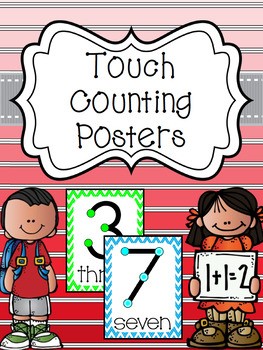 Touch Counting Posters - Bright Chevron  Background