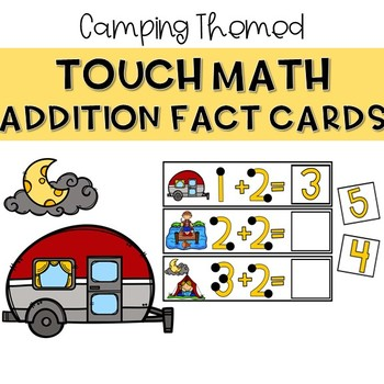 Touch Dot Addition Cards - Camping Themed