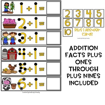 Touch Dot Addition Cards - Farm Themed